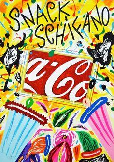 DONZELLI BRUNO - Snack Schifano - Serigrafia Polimaterica  - 35 x 50 cm