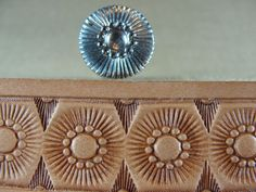 RARE Vintage 50 yr Old Craftool Co 551 Flower Center Stamp Leather Tool | eBay