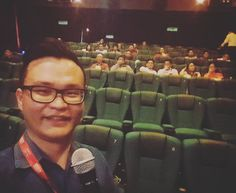 Not bad wor for an experience presenting in cinema hall. I was abit shaky on the start.. Haha