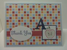 Stampin' Up Handmade Thank You Teacher Appreciation by donnainksLa, $4.00