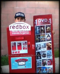 Coolest Homemade Redbox Costume... This site is the Pinterest of costumes
