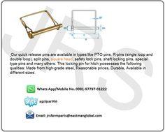 Manufacturers of Square Shape PTO Pins Contact : jrsfarmparts@eastmanglobal.com  #JRSFarmparts #PTOPins #Tractorparts