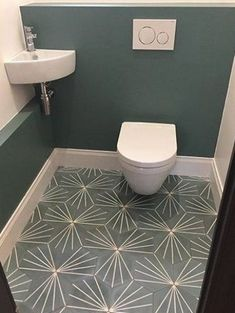 ♡ Small Toilet Room, Guest Toilet, Downstairs Toilet, Small Bathroom, Wc Design, Toilet Design, Home Decor, Ideas, Decorating