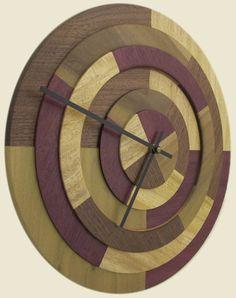 wood clock.