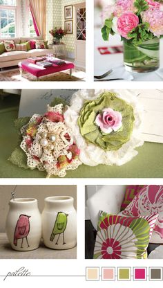 COLOR BOX: Hot Pink Me IMAGE CREDITS: See Article TAGS: #hot_pink #pink #green #lime #home_decor #flower #spring #handmade #lace
