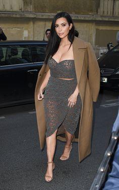 Kim arriving at Ferdi restaurant in Paris - April 15, 2015