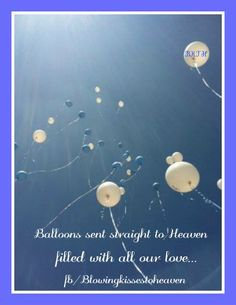 Sending Balloons To Heaven Filed With Love My Angel Happy Birthday In Dad