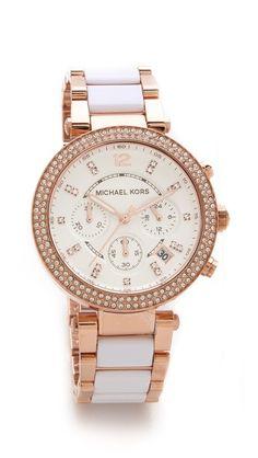 parker glitz chronograph watch / michael kors