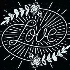 ☮ American Hippie Art ☮ Typography LOVE