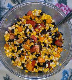 Mexican Corn & Black Bean Salad (Vegan, Gluten Free, Organic)