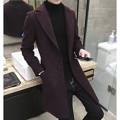 Classic Fashion Men's Trench Coats 2018 Army Red Black Men's Long Trench Slim Fit Overcoats Men's Fashion Trench Outerwear Classic Fashion Men Trenchcoats 2018 Army Red Black Men Long Trench Slim Fit Overcoats Men Fashion Trench Outerwear Coats 2018, Wool Trench Coat, Vetement Fashion, Mens Winter Coat, Winter Coats, Langer Mantel, England Fashion, Winter Mode, Mens Fashion Suits
