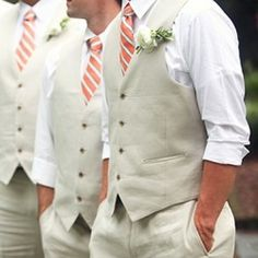 summer wedding mens wear, but without the orange. maybe blue