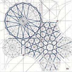 "348 Likes, 10 Comments - Regolo Bizzi (@regolo54) on Instagram: ""Bou 146 #islamicdesign #islamicgeometry #islamicart #geometry #symmetry #pattern #handmade #star…"""