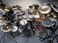 Mike Portnoy's (ex-Dream Theater) drum kit.