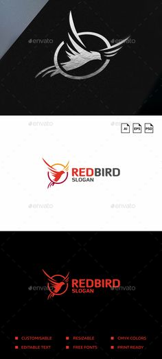Bird Logo - Animals #Logo Templates Download here: https://graphicriver.net/item/bird-logo/19744866?ref=alena994