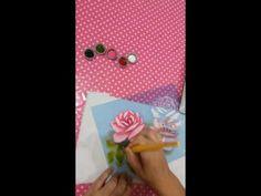 Pintura em tecido com stencil parte2 - YouTube