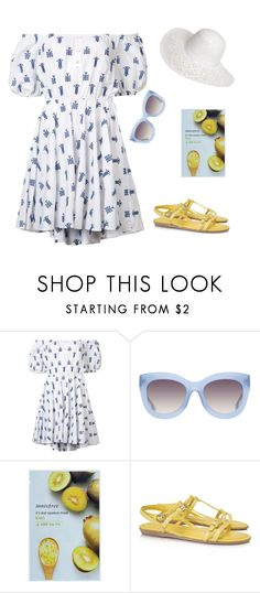 """""""Remaining Summer Days"""" by ella178 ❤ liked on Polyvore featuring Caroline Constas, Alice + Olivia, Innisfree, Tod's, Dorothy Perkins, summerdress and summerlook"""