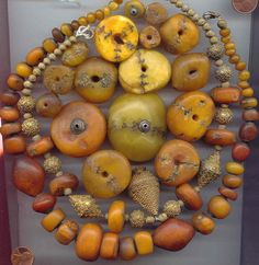 A collection of reinforced amber, repaired amber and Senegal or du pays. Posted by Annemarie Kogler