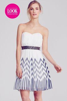 af46e4cc1280 Little Mistress by Look Magazine Amy Chevron Dress Weißes Kleid, Kleider  Schwarz, Chevron Druck