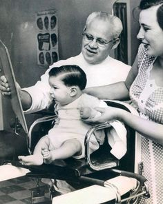 Baby's first haircut ca.1950