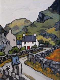 British Artist David BARNES - Homeward Bound in the Pass