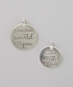 Look at this Sterling Silver 'They Searched the World for Me' Adoption Set on #zulily today!