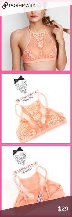 •Victoria's Secret• High Neck Halter Bralette V I C T O R I A 'S ✦ S E C R E T    ❈ Condition: New with tags  24/7 sexy: this high-neck halter in soft lace is one you'll want to live in.  •Unlined Wireless cups •Adjustable straps •Single row of hook-and-eye closures •Imported nylon/spandex  Style tip: Style with a washed chambray buttondown.  ❈ Reasonable Offers Welcome!  ❈ Fast shipping Monday⇢Friday  Same/Next day after your purchase  ❈ Questions? Please comment below,  I will be more than…
