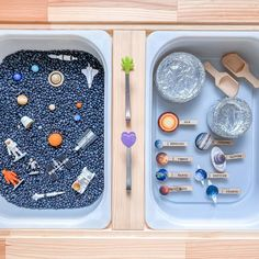 Sensory Activities Toddlers, Space Activities, Infant Activities, Sensory Table, Sensory Bins, Sensory Play, Projects For Kids, Diy For Kids, Space Preschool