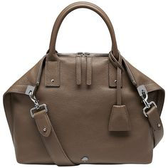 Buy Mulberry Alice Small Leather Zip Tote, Taupe Online at johnlewis.com