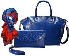 #mala #bag #blue #azul #carteira #lenço #primavera #fashion