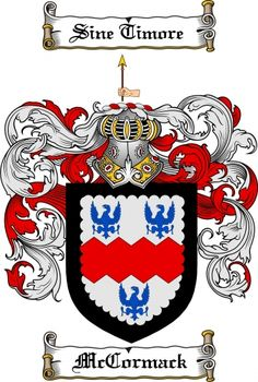 $7.99 Mccormack Coat of Arms Mccormack Family Crest Instant Download