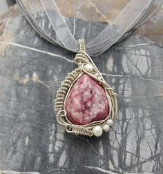 Sterling Wire Wrap Pendant Wire Wrap Pendant Druzy ♥ by studiodct, $96.00