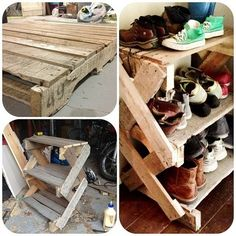 Single pallet shoe rack.