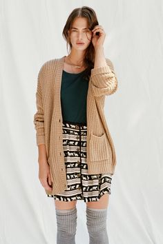 BDG Twist-Back Shaker Cardigan - Urban Outfitters