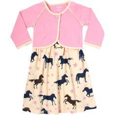 Hatley  Starry horses dress & jacket set - girls