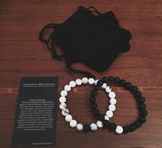 """Distance"" Bracelets buy Here: http://alphaaccessories.co/collections/all-products/products/distance-bracelets ⚪️⚫️ 1 wears the white ⚪️ 1 wears the black ⚫️ Stay connected even when you're apart from each other ❤️"