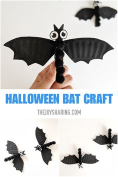 Bat Craft for Kids Quick and easy Halloween craft for kids. Get the details to make this cute bat Halloween craft for preschoolers and kindergarteners on our website. The post Bat Craft for Kids appeared first on Halloween Crafts. Kids Crafts, Crafts For Seniors, Fall Crafts For Kids, Preschool Crafts, Craft Kids, Food Crafts, Paper Crafts, Quick Halloween Crafts, Halloween Activities For Kids