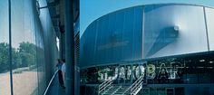 Ice-skating Rink • Basel, Switzerland • 3D bioclimatic textile facade made with Serge Ferrari membrane. Incredible transparency for users'comfort optimization