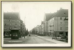 gammelt postkort fra Oslo Jacob Aals gate.