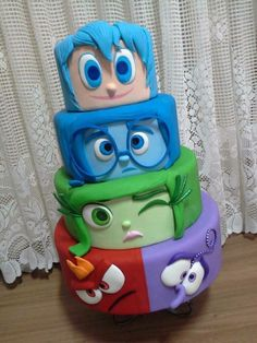 """Inside Out"" cake"