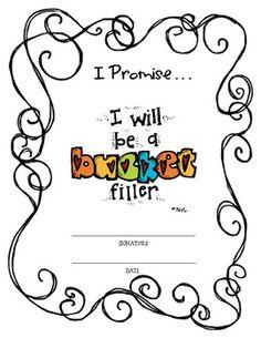 BUCKET FILLER PROMISE - TeachersPayTeachers.com