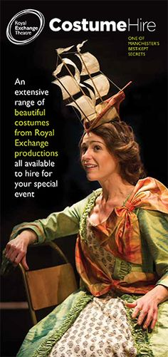 As a busy producing theatre we have a highly skilled wardrobe and costume-making department who create a huge range of hand-made, beautifully crafted clothing, jewellery, hats and shoes. At the end of a production, many of these unique costumes and . Unique Costumes, Beautiful Costumes, Costume Hire, Behind The Scenes, Theatre, Gowns, Shopping, Vestidos, Dresses