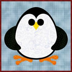 Free Quilt Pattern: Penguin Cheer Mug Rug