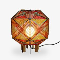Andromeda Satellite Table Lamp  in a custom 5 color way. Sculptural mid-century modern inspired lighting