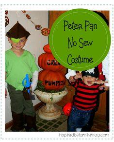 peter pan no sew costume