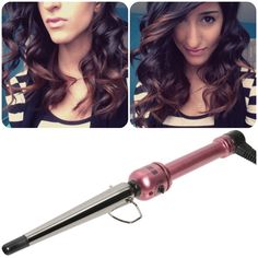 Katlyn is rockin' hot curls by using our Hot Tools Pink Titanium Tapered Curling Iron(HPK1852)! You can purchase this iron at www.HotTools.com