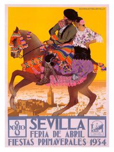 Sevilla Impressão giclée