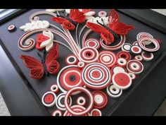 Paper Quilling Greeting Cards | Flower Hand Works | HandiWorks #12 - YouTube