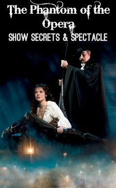 The Phantom whisks Christine away during the London-based Theatreland musical show, The Phantom of the Opera. Photo: via the original theatre show.