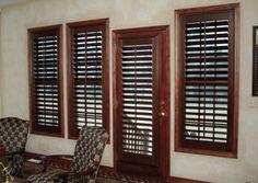 Custom Window Treatments Interior Design Home Décor Plantation Sunburst Shutters Window Covering Upgrade Solid Hard Wood Shutters
